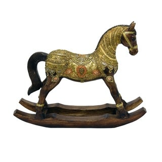 Three Hands Resin Rocking Horse