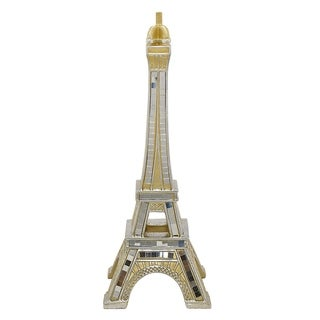 Three Hands Silver Resin Eiffel Tower Tabletop Decoration