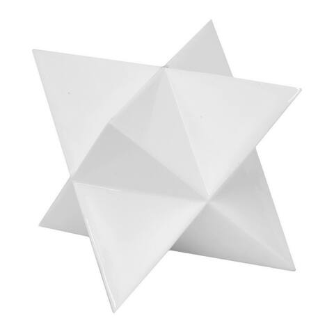 Three Hands White Resin Star Tabletop Decor