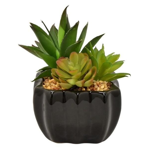 Three Hands Faux Succulent Pot