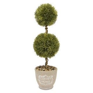 Three Hands Faux Topiary Pot