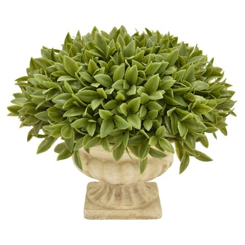 Three Hands Faux Topiary Grass Pot