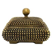 Three Hands Decorative Bronze Resin Covered Box