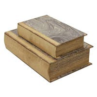 Three Hands Set Of Two Book Boxes - l7.25x2.75x10.50 * m 5.25x2x8.25 *