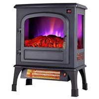 """Pro Fusion Heat FP203R-T3Q 20"""" 750/1500 Watt Electric Stove With Remote, Digital Display & Thermostat"""