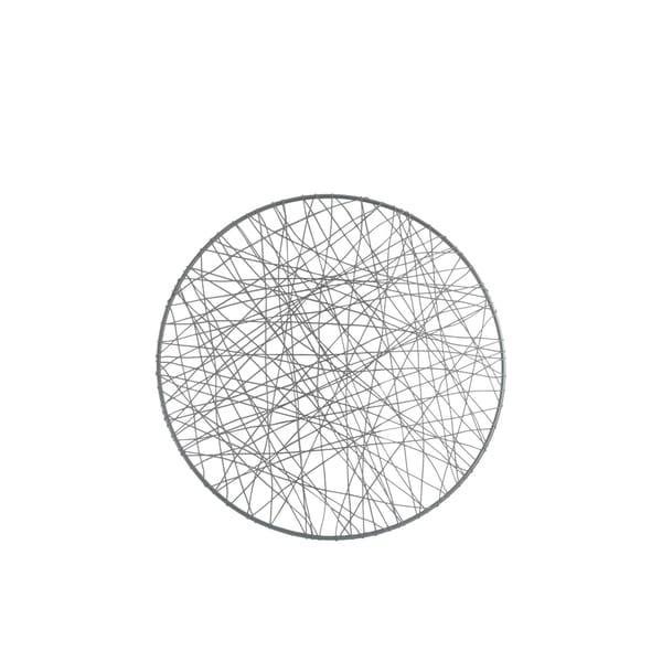 UTC31014: Metal Round Wall Art with Abstract Lines Design SM Metallic Finish Gunmetal Gray