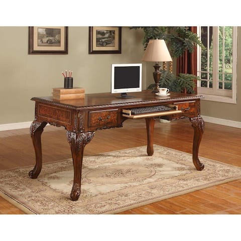 Best Master Furniture CD100 Walnut Executive Desk