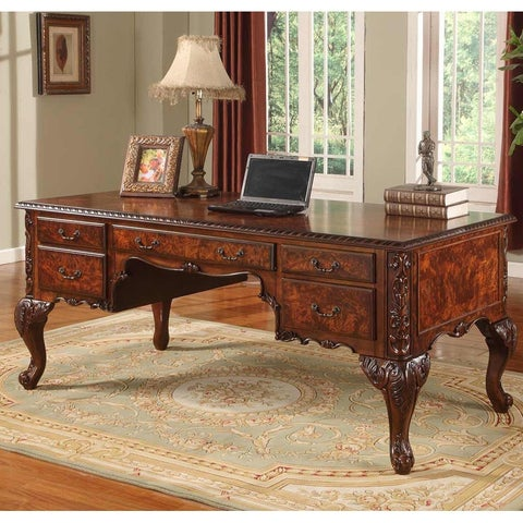Best Master Furniture CD120 Walnut Executive Desk