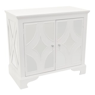 Three Hands Mirrored Cabinet-White