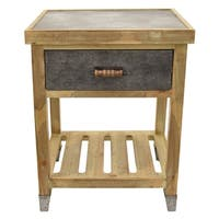 Three Hands Wood Side Table