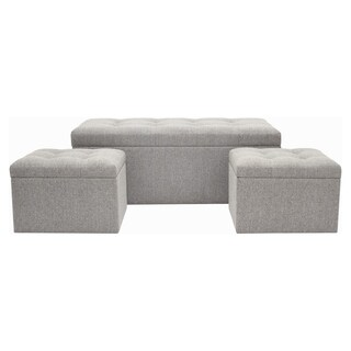 Three Hands Set Of Three Storage Bench & Ottomans