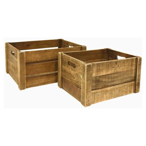 Three Hands Set Of Two Storage Baskets - l19.75x15.25x9.5 * m 16.75x12.75x9 *