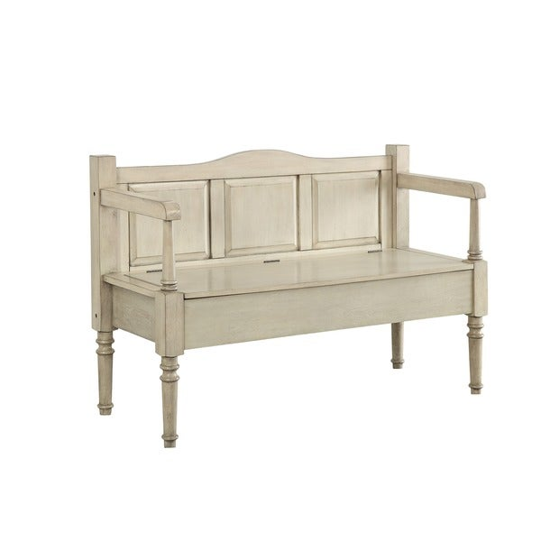 Shop Furniture Of America Mimi Wooden Entryway Storage Bench On