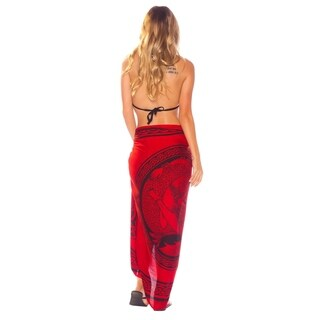 Celtic Sarong in Maiden And The Dragon Rose Red FRINGELESS