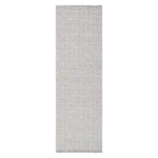 Jani Ina Flatweave Grey/White Rug - 2'6 x 8'