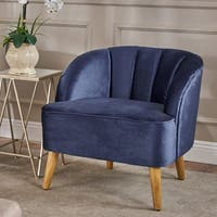 Amaia Modern Velvet Club Chair by Christopher Knight Home