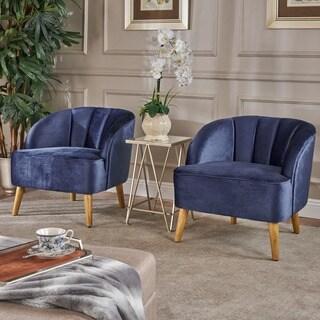 Shop Darrow Modern Velvet Armless Chair By Christopher