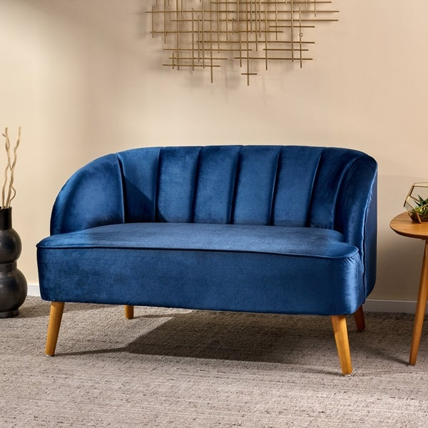 Amaia Modern Velvet Loveseat Sofa by Christopher Knight Home. Opens flyout.