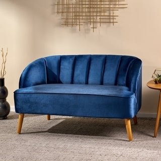 Amaia Modern Velvet Loveseat Sofa by Christopher Knight Home