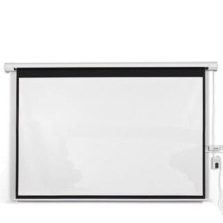 "100"" 4:3 Electric Auto Projector Projection Screen Remote Control"
