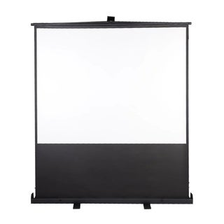 "Floor Projector Projection Screen 80"" 4:3 Foldable Pull Up Aluminium"