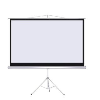 "100"" Projector 16:9 Projection Screen Tripod Pull-up Matte White"