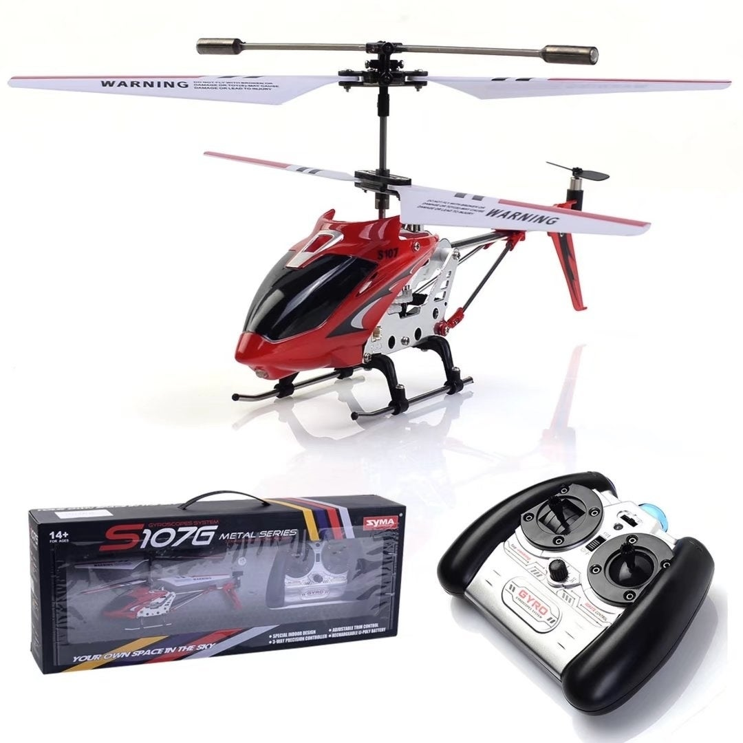 Red S107G 3CH Mini Remote Control RC Helicopter Gyro Chri...