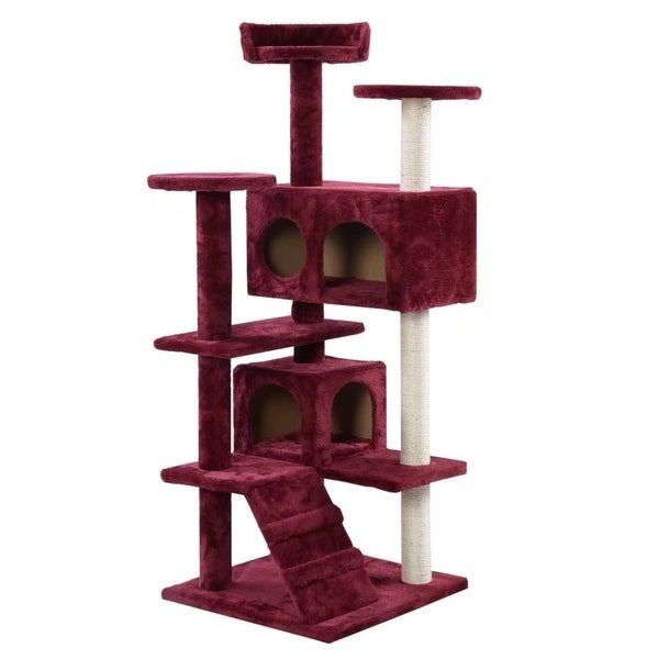 Superb Cat Tree Tower Condo Furniture Scratch Post Kitty Pet House Play Wine