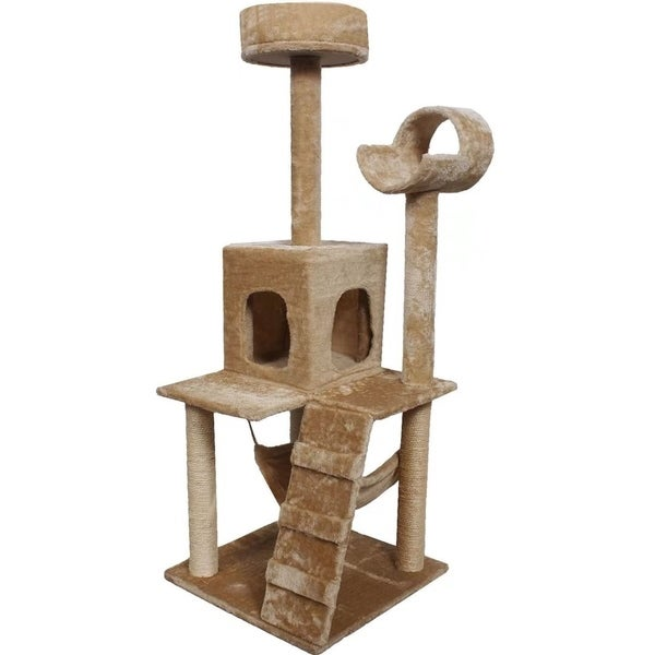 Shop 52 Cat Tree Tower Condo Furniture Scratch Post Pet Home Bed