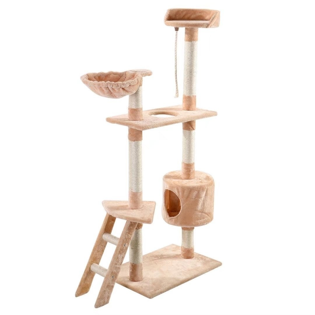 "60"" Cat Tree Tower Condo Scratcher Furniture Kitten Pet H..."