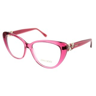 Jimmy Choo Cat-Eye JC 120 W5R Women Transparent Cherry Frame Eyeglasses