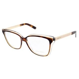 Jimmy Choo Square JC 122 19W Women Gold Havana Frame Eyeglasses