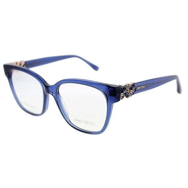 18b4277379 Jimmy Choo Square JC 119 W6N Women Transparent Blue Frame Eyeglasses