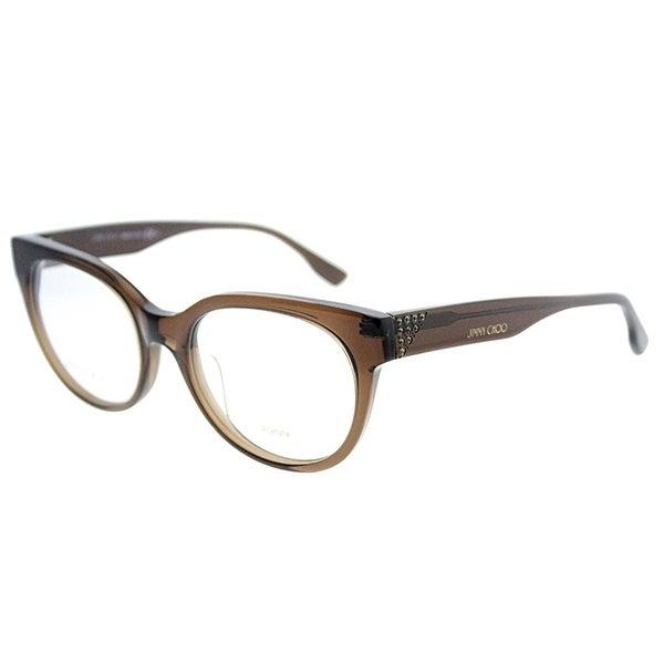 f1f74ebebf2a Jimmy Choo Round JC 136 3M0 Women Brown Transparent Frame Eyeglasses