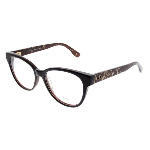 4764878b4f5 Jimmy Choo Cat-Eye JC 141 J3P Women Brown Spotted Frame Eyeglasses