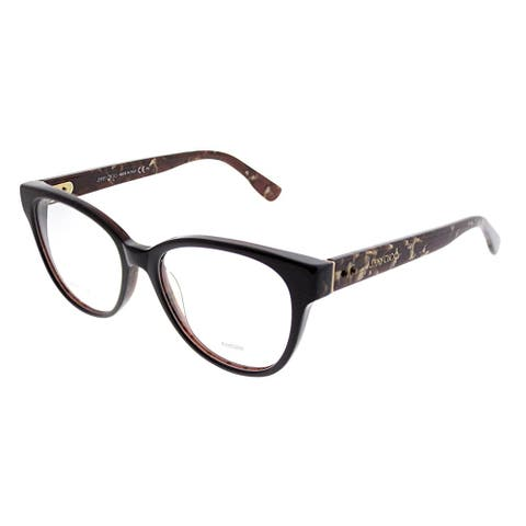 Jimmy Choo Cat-Eye JC 141 J3P Women Brown Spotted Frame Eyeglasses