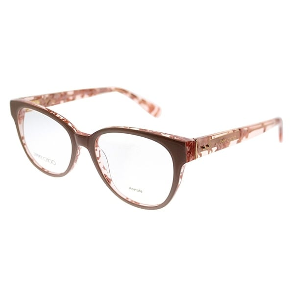 9c8d770269c Jimmy Choo Cat-Eye JC 141 J42 Women Nude Spotted Frame Eyeglasses