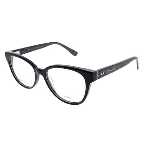 Jimmy Choo Cat-Eye JC 141 J3L Women Black Spotted Frame Eyeglasses