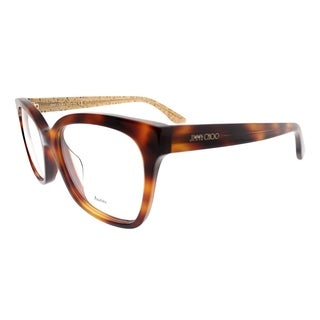 Jimmy Choo Square JC 158F Asian Fit Q9W Women Havana on Glitter Frame Eyeglasses