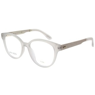 Jimmy Choo Round JC 159 42U Women White Light Gold Frame Eyeglasses