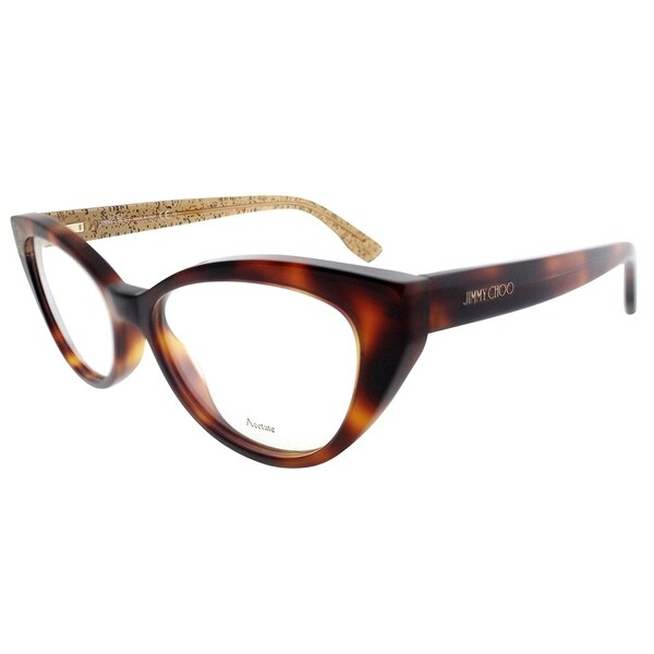 98b4868db1b Jimmy Choo Cat-Eye JC 149 Q9W Women Havana on Glitter Frame Eyeglasses