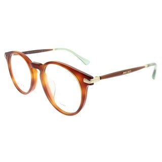 Jimmy Choo Round JC 152 QAN Women Havana Glitter Frame Eyeglasses