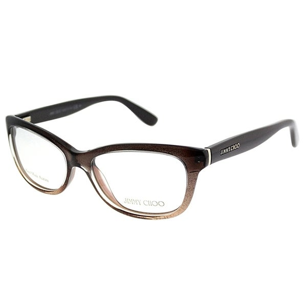 2245e0ea3a2a Jimmy Choo Rectangle JC 87 2PI Women Brown Glitter Brown Frame Eyeglasses