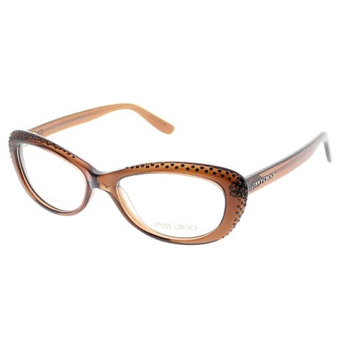 Jimmy Choo Cat-Eye JC 89 LRL Women Brown Frame Eyeglasses