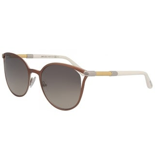 Jimmy Choo Cat-Eye JC Neiza SAU Women Brown Frame Brown Gradient Mirrored Lens Sunglasses