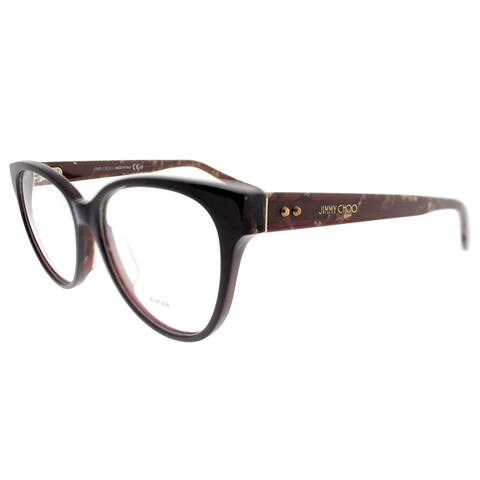 Jimmy Choo Cat-Eye JC 145F Asian Fit J3P Women Brown Spotted Frame Eyeglasses