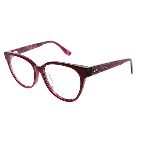 Jimmy Choo Cat-Eye JC 145F Asian Fit J4Q Women Cherry Red Spotted Frame Eyeglasses