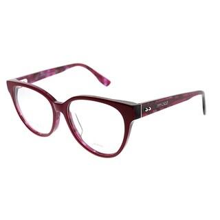 Jimmy Choo Cat-Eye JC 145F Asian Fit J4Q Women Cherry Red Spotted Frame Eyeglasses
