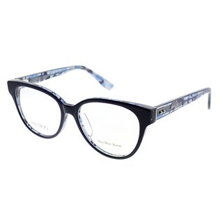 Jimmy Choo Cat-Eye JC 145F Asian Fit J55 Women Blue Crystal Blue Frame Eyeglasses