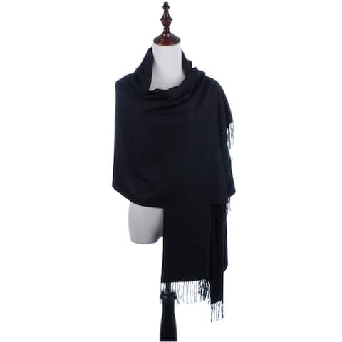 d4cacba43d BYOS Versatile Oversized Soft Cashmere Shawl Scarf Travel Wrap Blanket W   Tassels